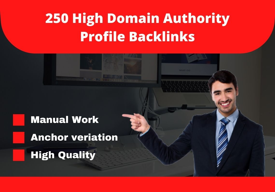 I will provide you 250 high domain authority 70+ do-follow backlinks.