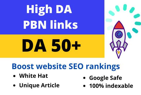 I will make DA 50 plus permanent 15 homepage backlinks for seo ranking