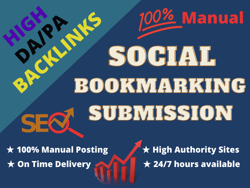 I will do manually 85 bookmark submission for HQ backlinks