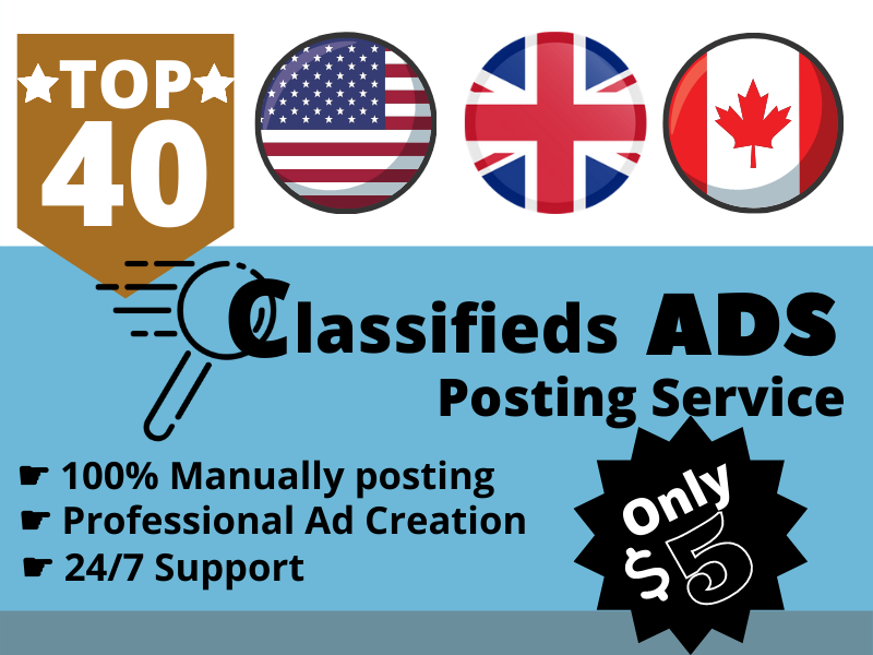 I will do 40 Classified ADs Posting