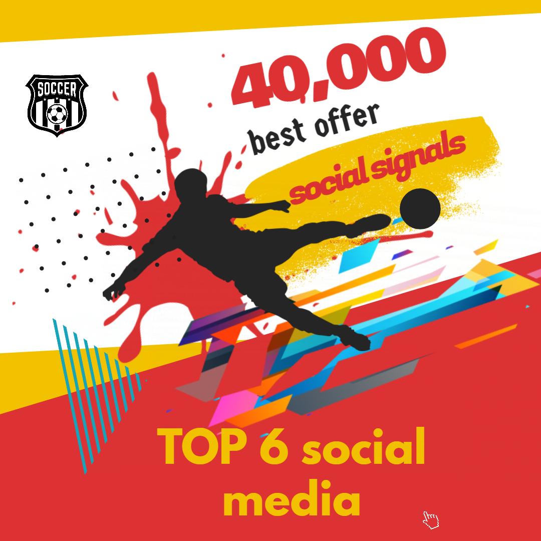 Bookmarking 40,000 TOP 6 social media Social Signals From Social Networking