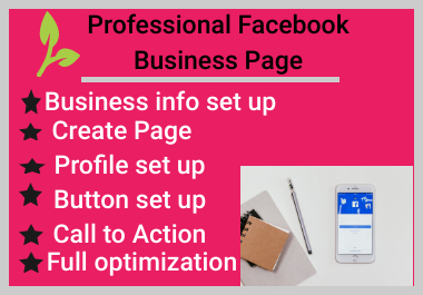I Will Create Professional And Optimize Facebook Business Page