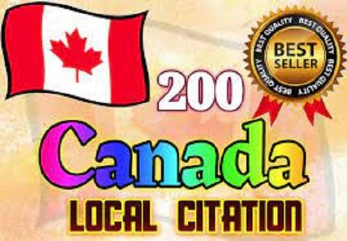 I will do best 200 canada local citations