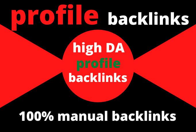 I will provide 200 high DA real profile backlinks