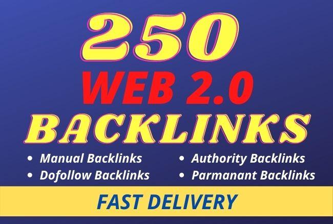 I will do 250 high authority web 2 0 backlinks