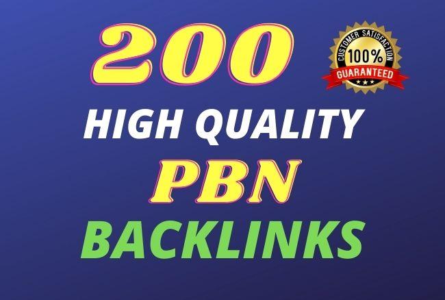 I will build 200 high da contextual SEO dofollow PBN backlinks