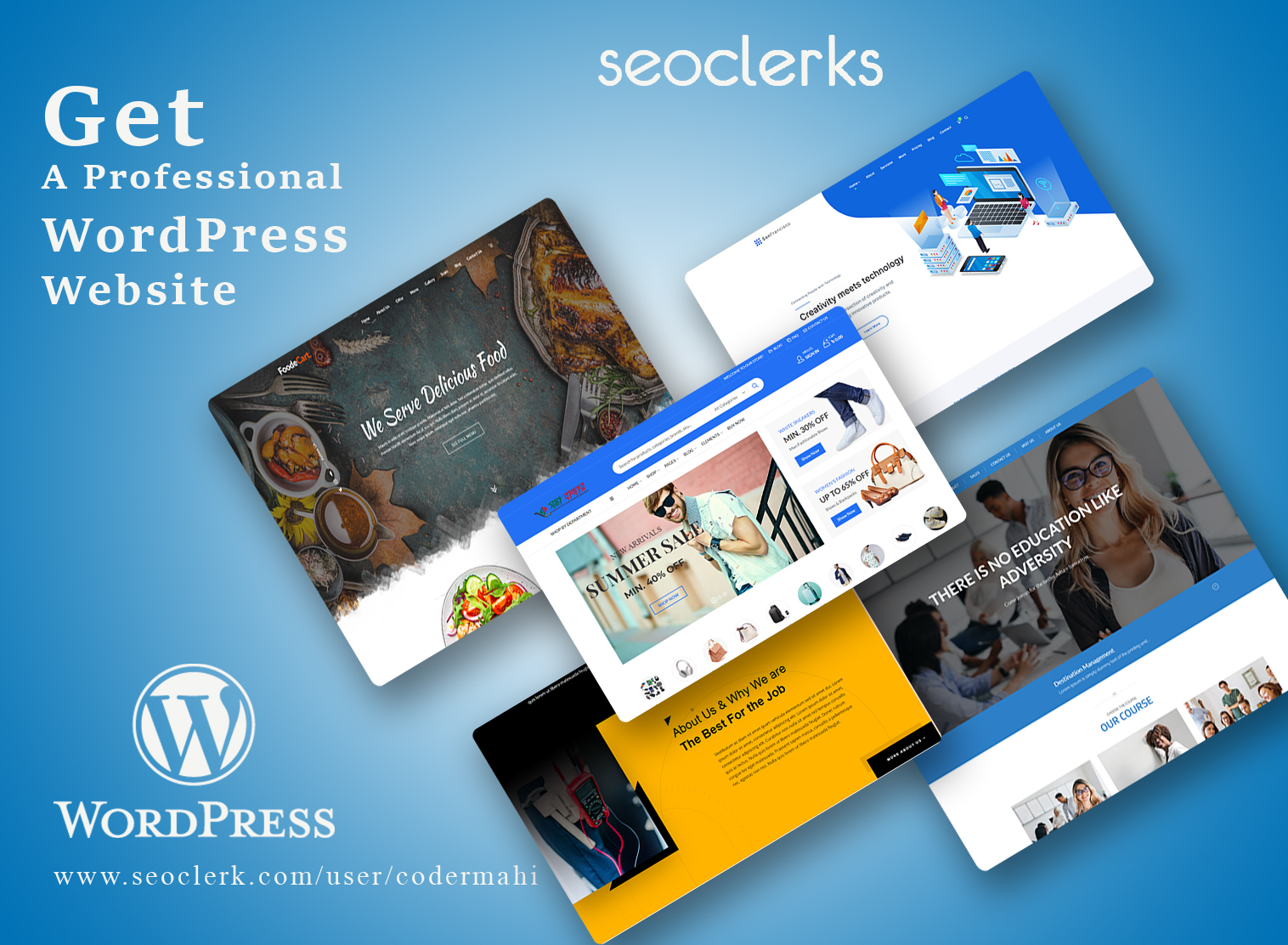 I will design and develop SEO friendly responsive wordpress website