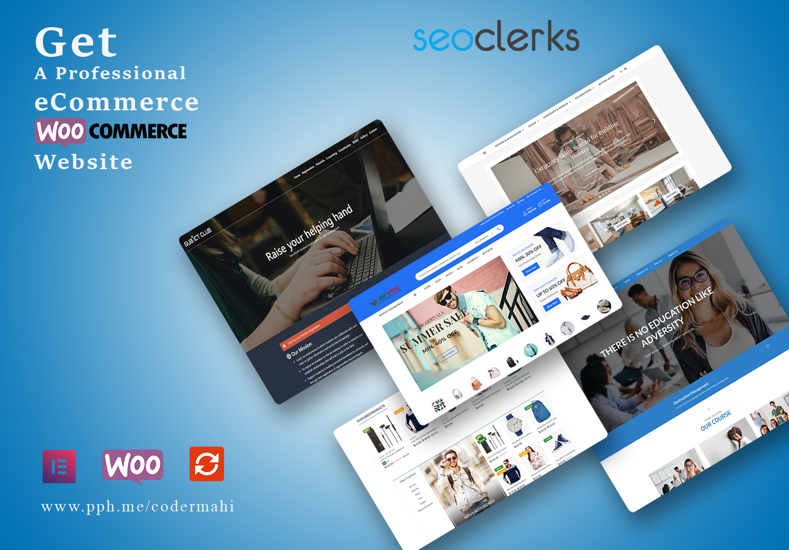 I will create ecommerce wordpress website and woocommerce store