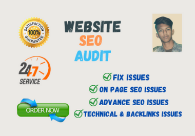 I Will create your complete Website SEO Audit Report Instantly