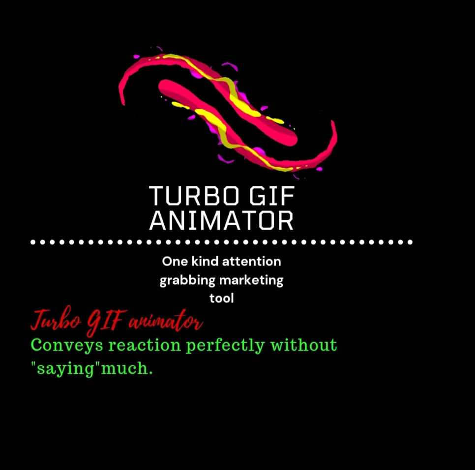 Turbo GIF animator one kind attention grabbing marketing