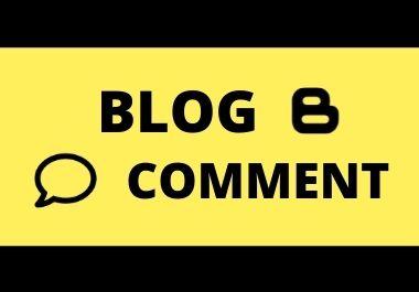 I will provide 100 blog comments seo Backlinks