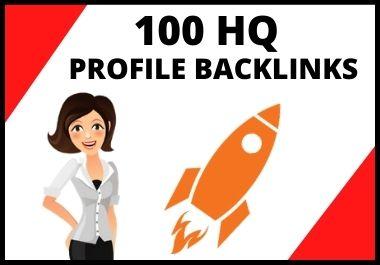 Get 100 HQ Profile Backlinks For Fast Google Ranking