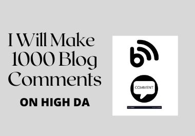 I will provide 1000 blog comments seo Backlinks