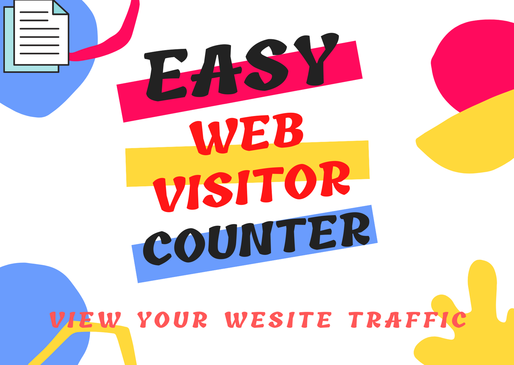 EASY WEB VISITOR COUNTER for website Traffic viewer