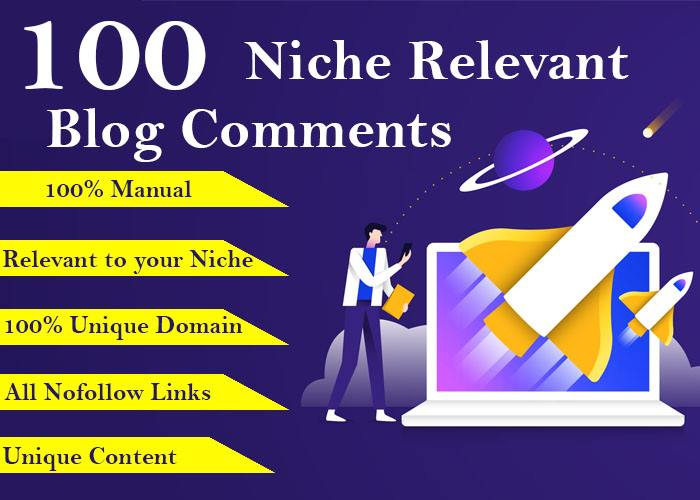Provide 100 High Quality Niche Relevant Blog Comment Backlinks