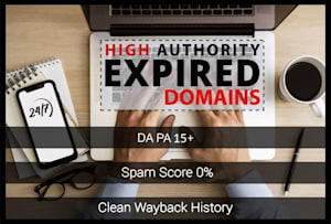 I will do high authority expired domain research with authority backlinks