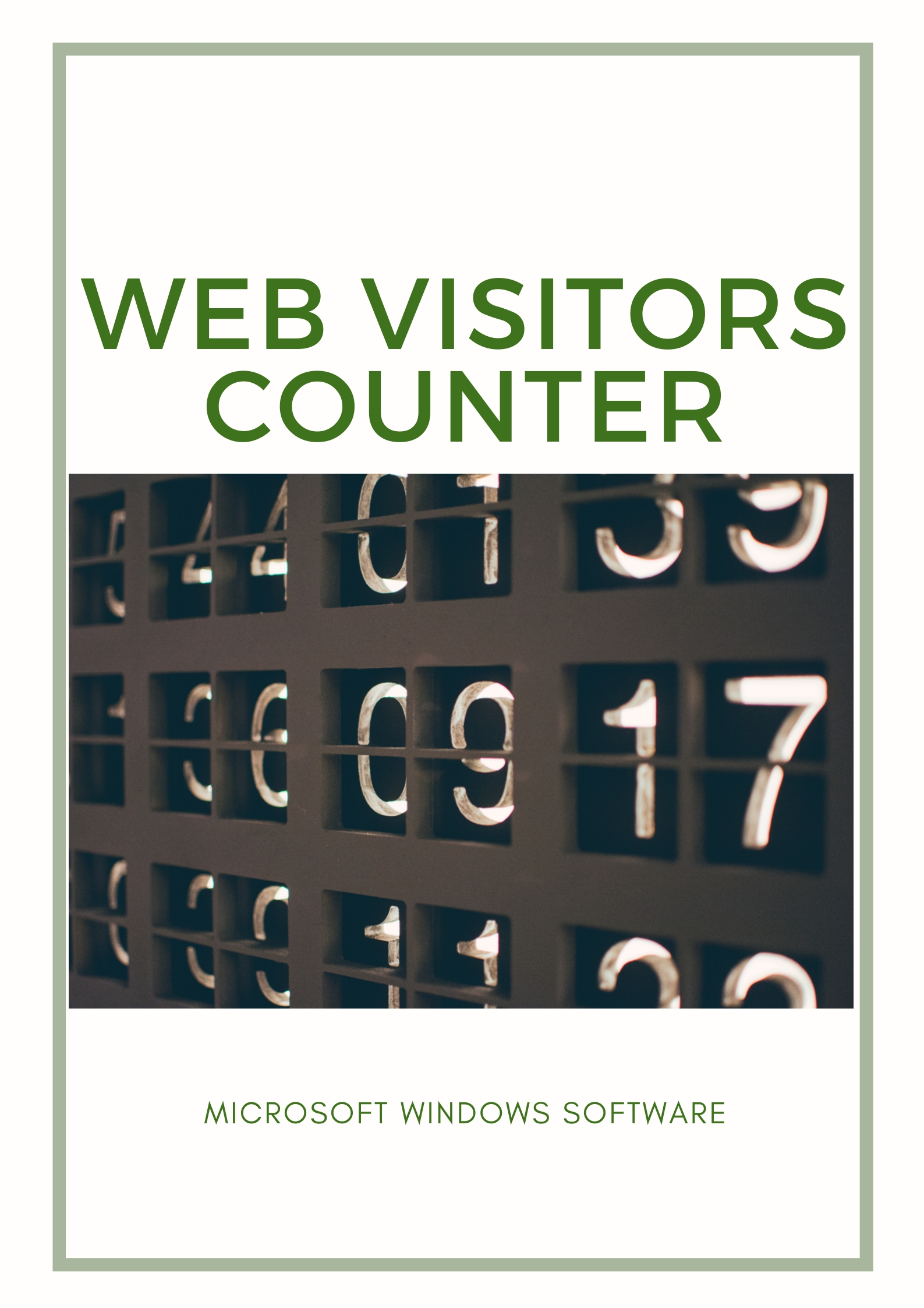 Easy web visitor counter for your website