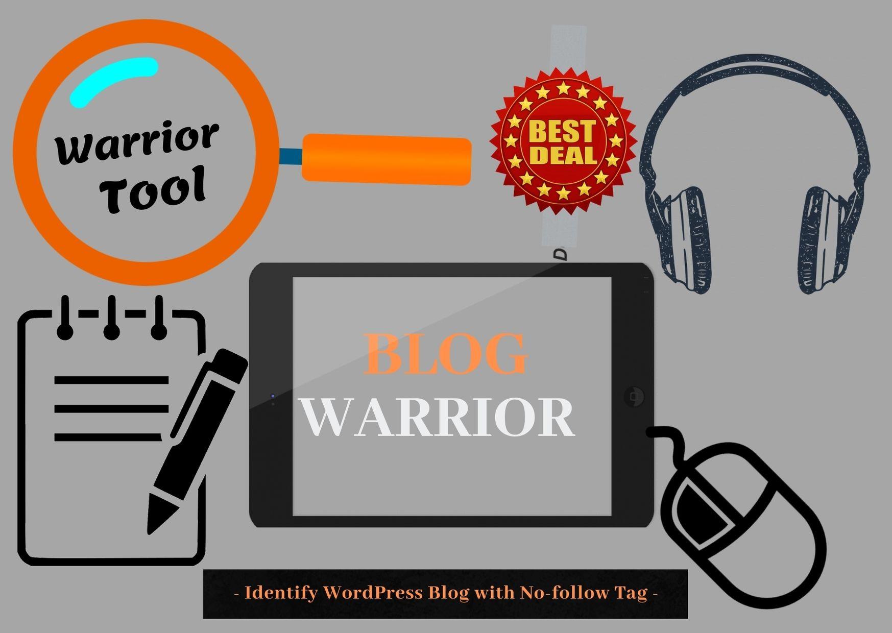 Blog Warrior - Identify WordPress Blog with No Follow Tags