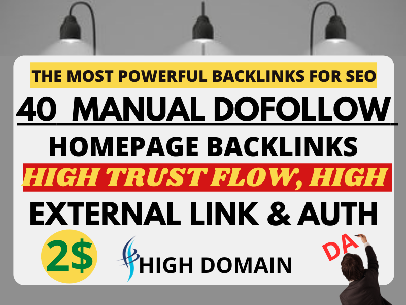 I will Create 40 High Quality Do-follow manually Profile Backlinks
