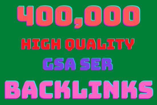I will make 400k GSA highly verified backlinks your website Rangking on google