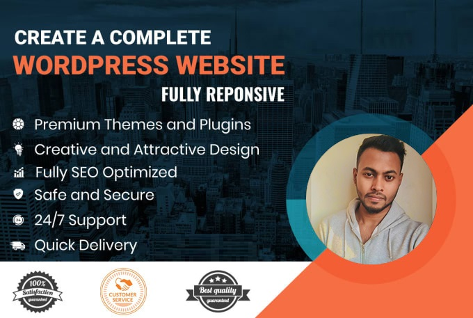 I will create and customize responsive wordpress website with elementor pro theme and builder