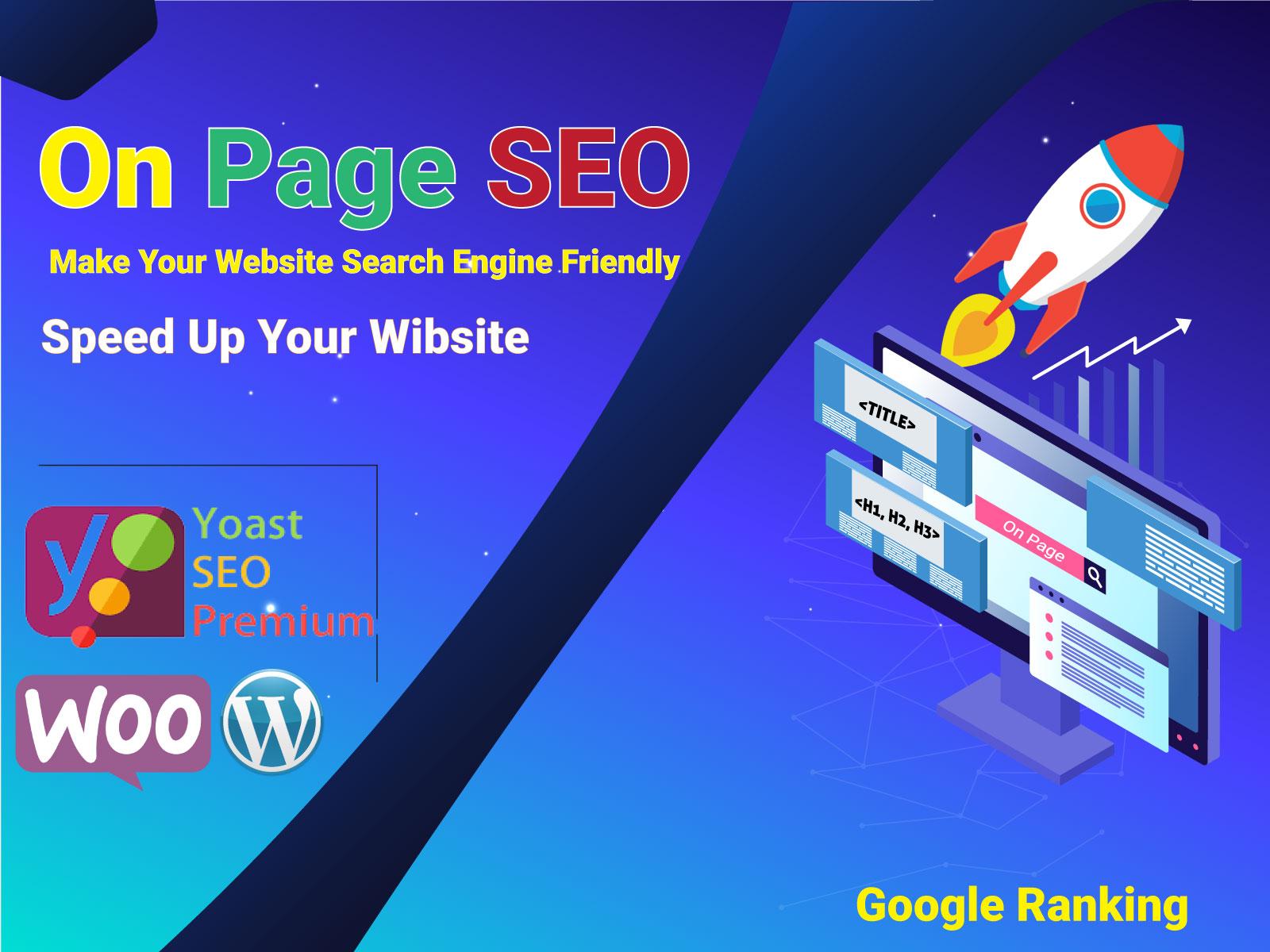 I will do on page SEO optimization of wordpress yoast for google ranking