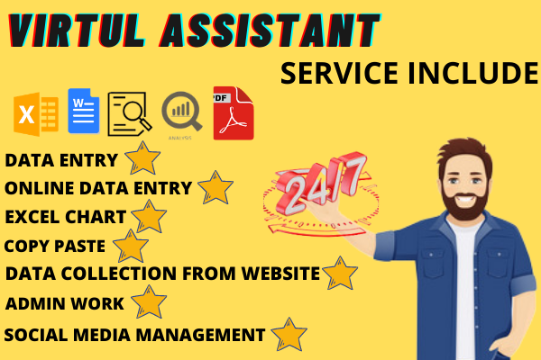 I will do excel data entry,  copy paste,  excel chart,  shopify product virtual assistant