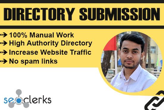 I will provide manually 100 Do-follow directory submission SEO backlinks