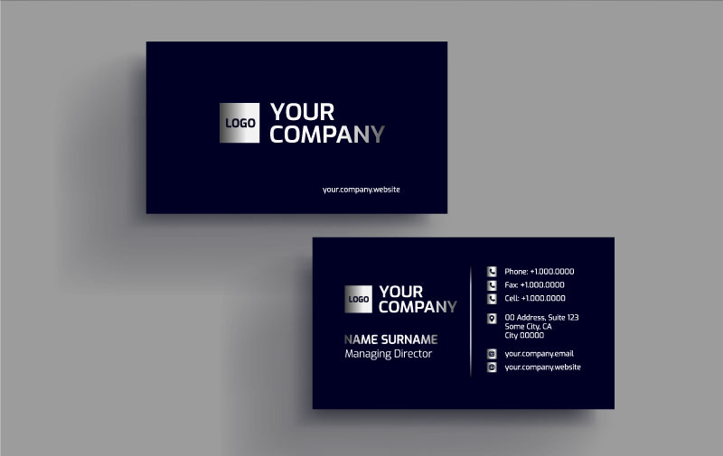 I will create a luxury card for your business