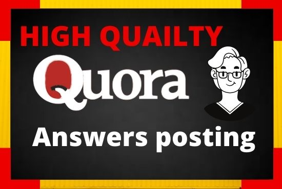 I will Promote your website with 30 HQ Quora answer Backlinks