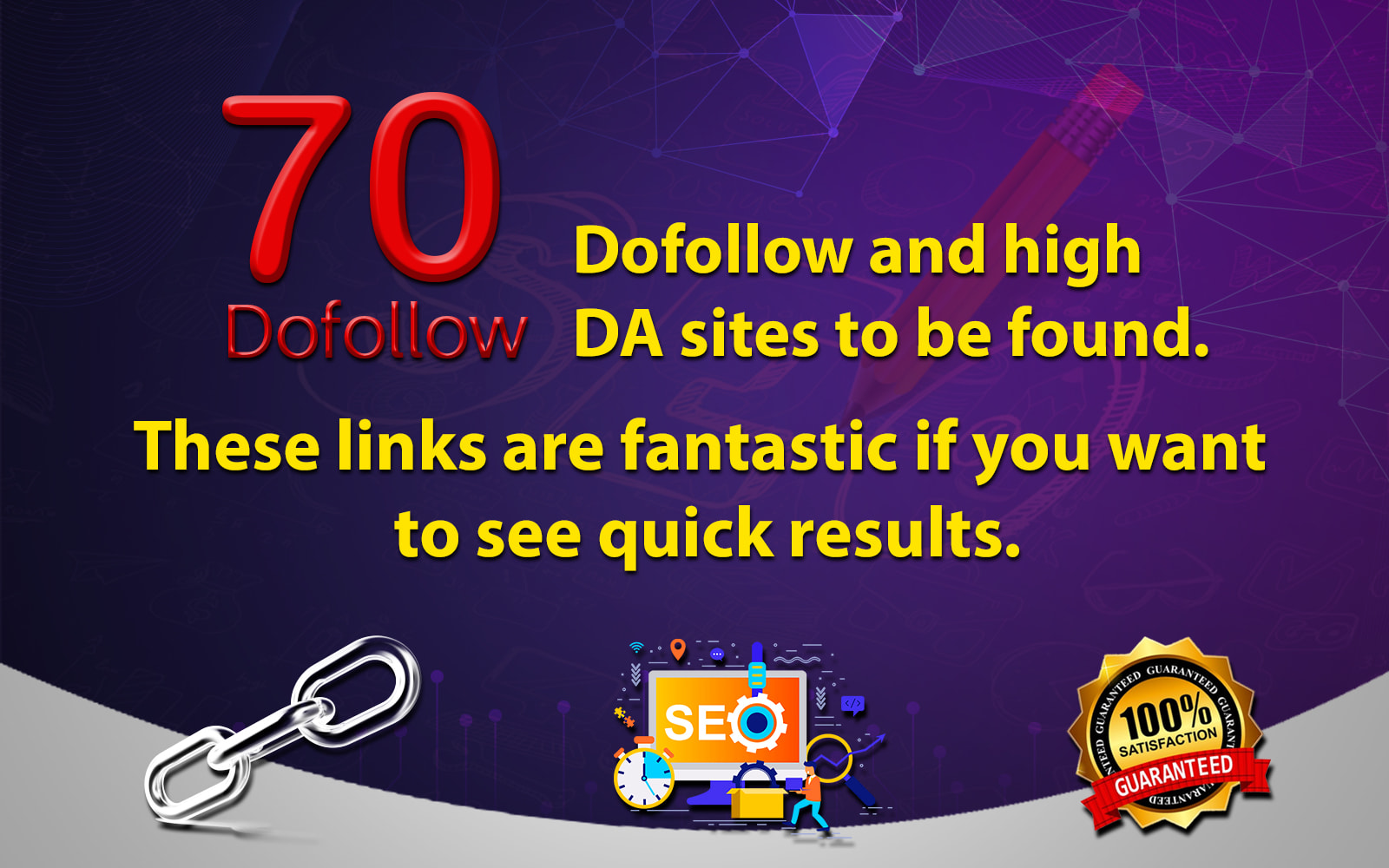 I will do 70 high authority dofollow SEO backlinks blogcommenting da 30+