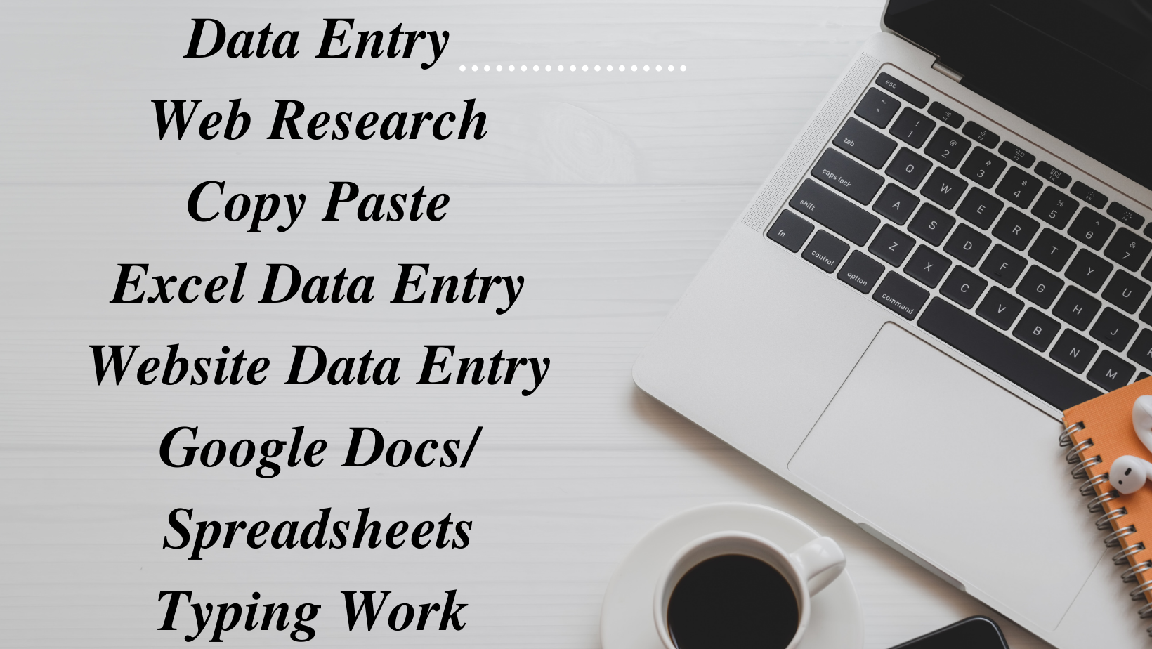 I will do data entry,  web research,  copy paste,  excel data entry,  typing work
