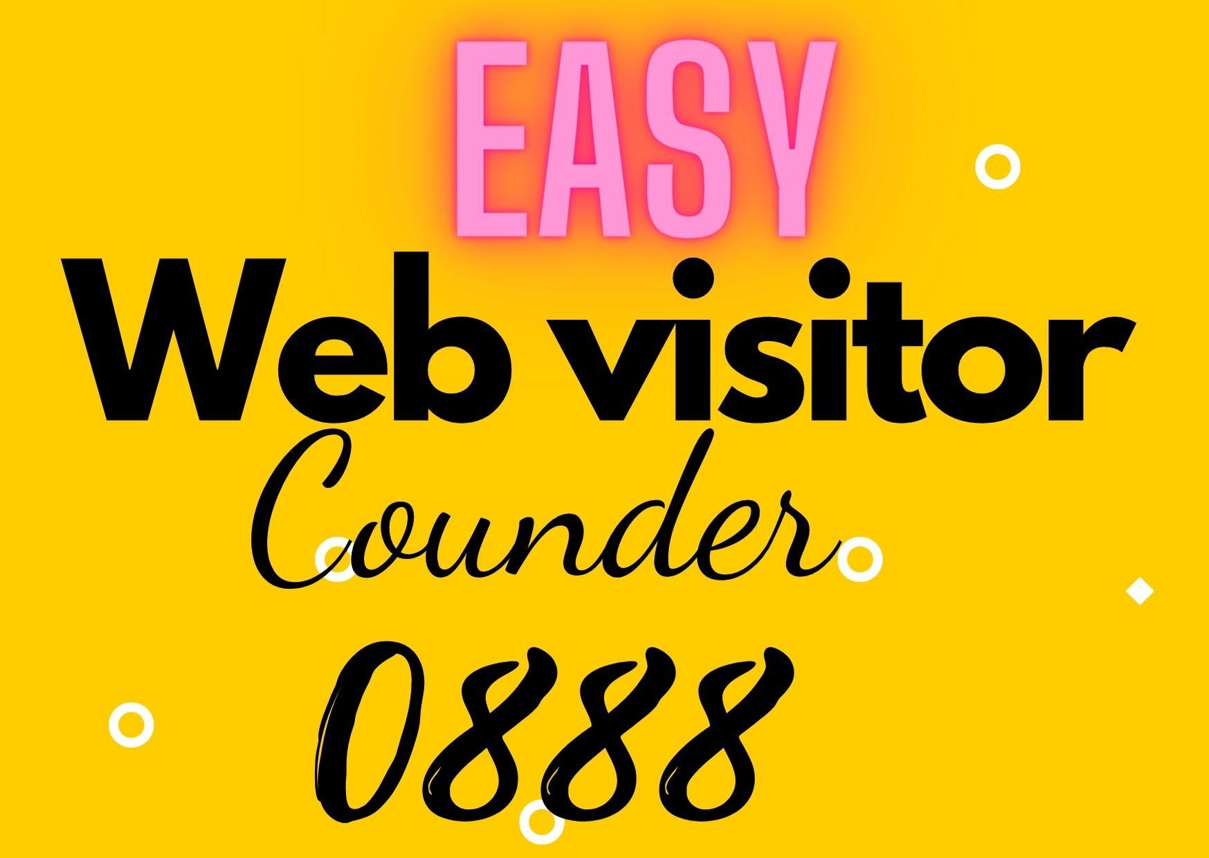 Easy website visit counder for windows