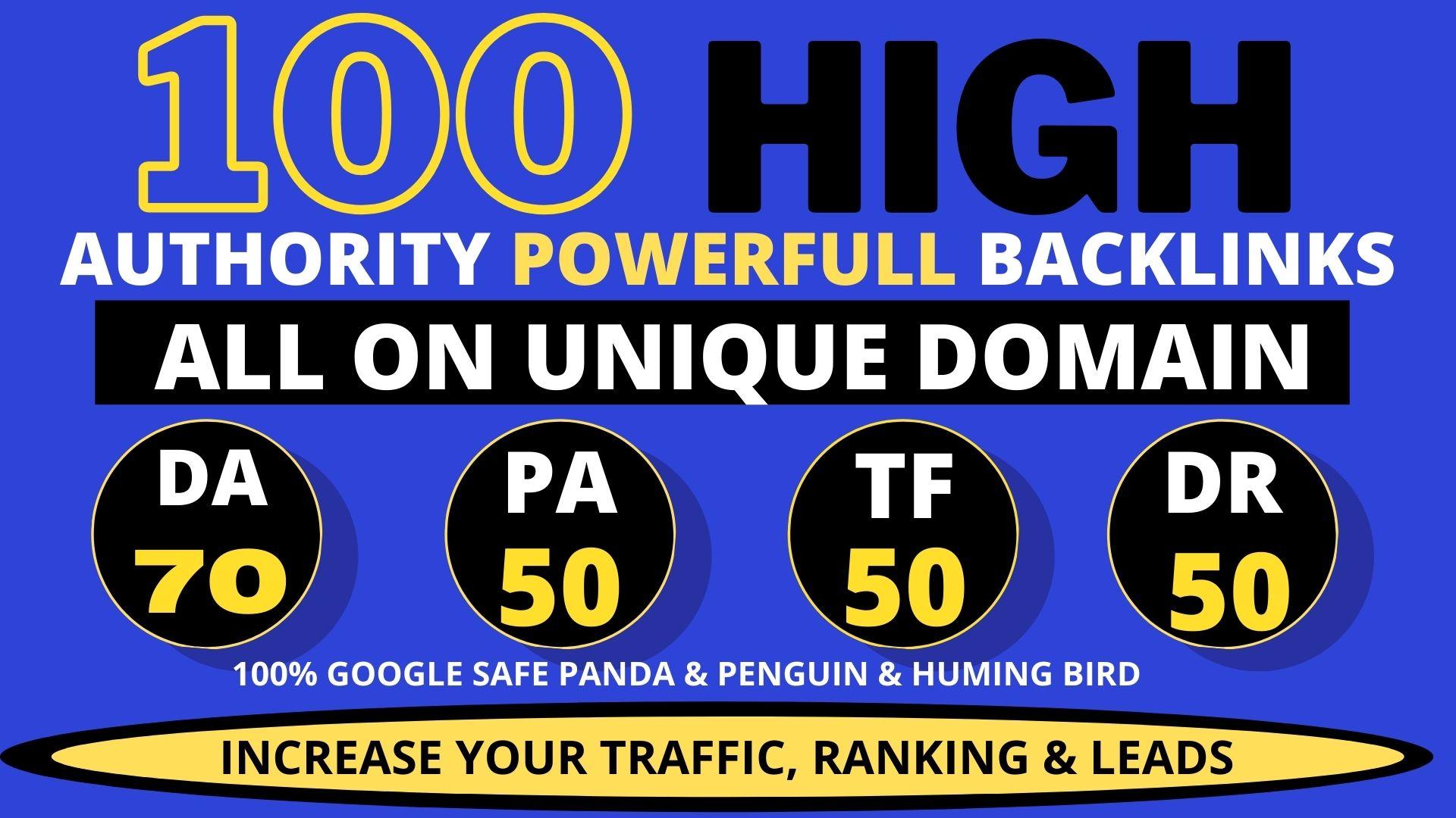 Create 100 High PA/DA TF/CF Homepage PBN Backlinks For Google Ranking