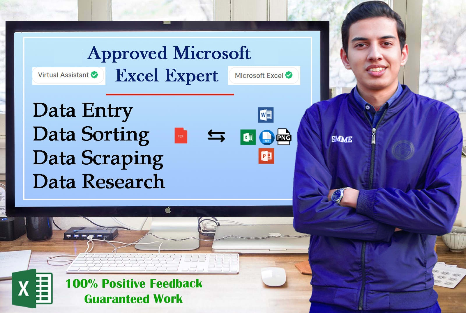I will be your virtual assistant for data entry,  data sorting jobs