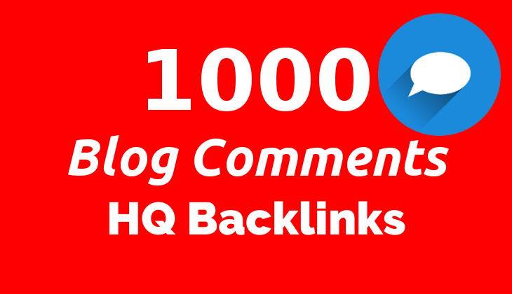 1000 Blog Comments HQ Backlinks for SEO on Google GSA SER Blast