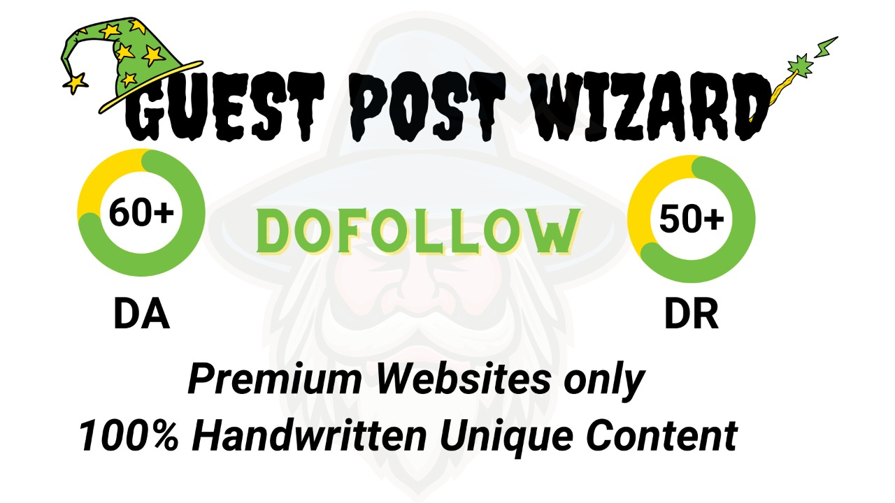 Create 10 Guest post on real traffic website which will guarantee improve your SERP
