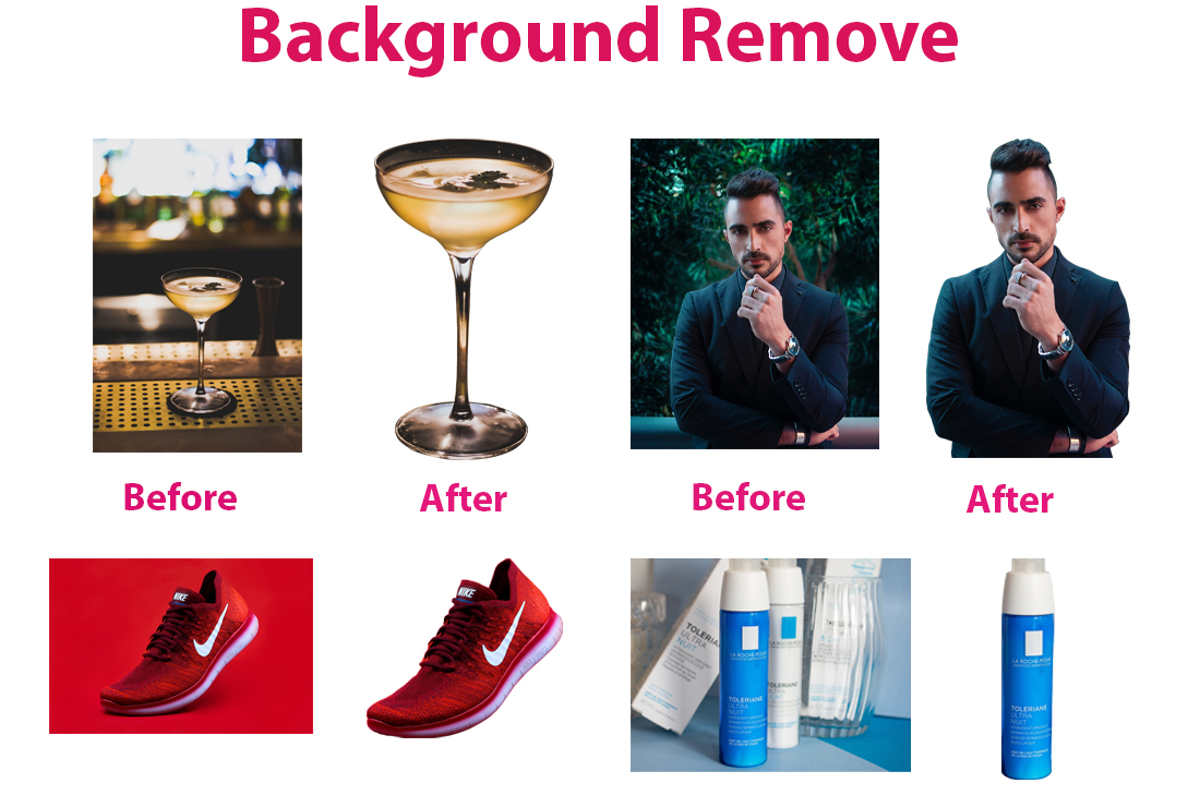 I will do 5 images background removal
