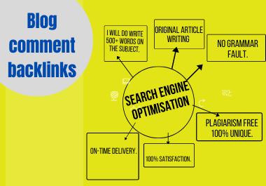 50 unique Blog comment for your site