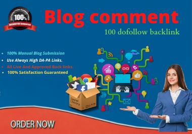 100 unique Blog comment for your site