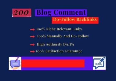 I will create 200 do follow niche relevant links & blog comment high DA PA