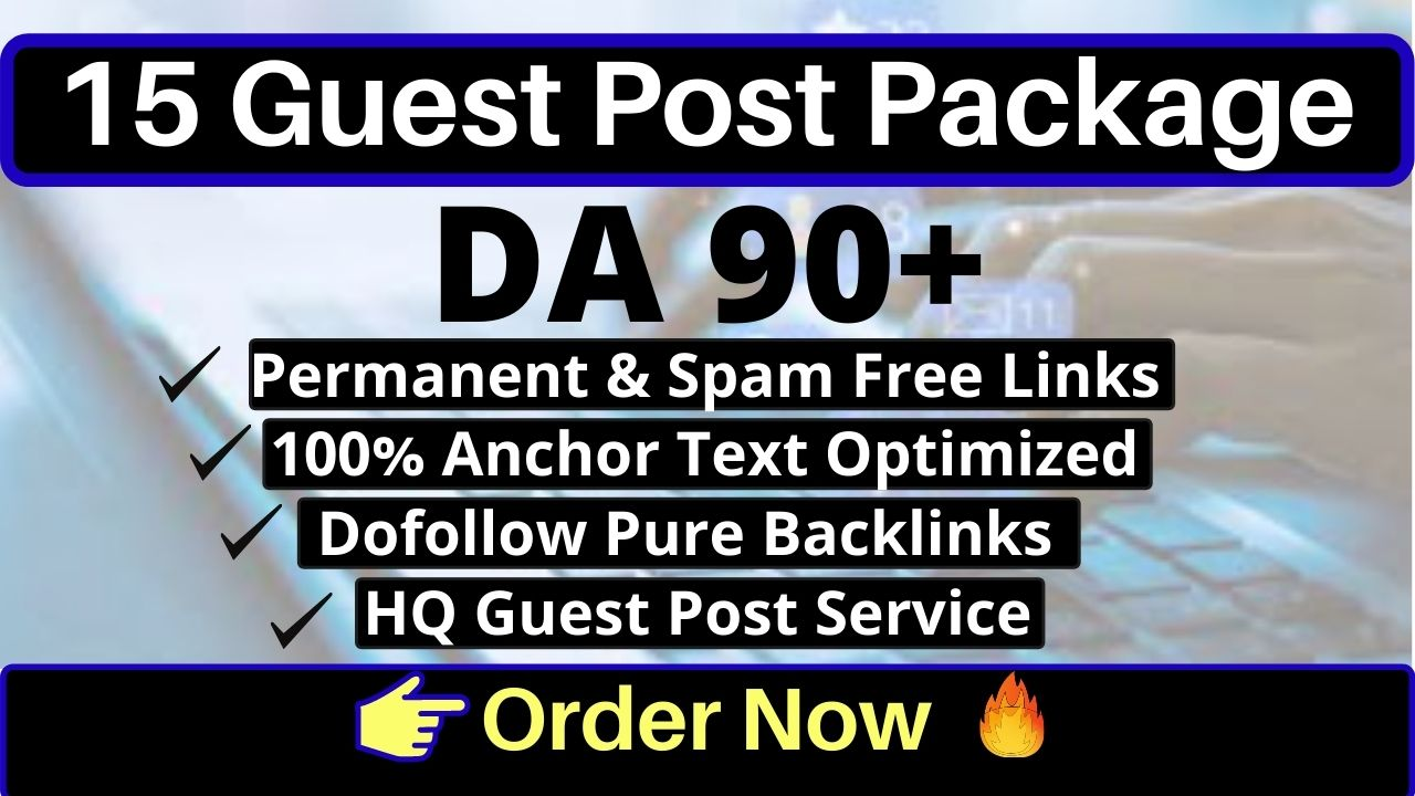 write Guest post on 15 High DA Websites with Unique Content DA 50-90+ with permanent backlinks