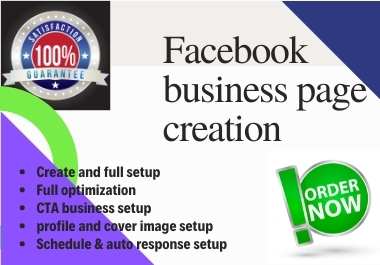 I will create,  optimize and develop your facebook business page with seo optimization