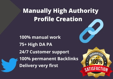 I will Build 100 High Quality Profile Backlinks.