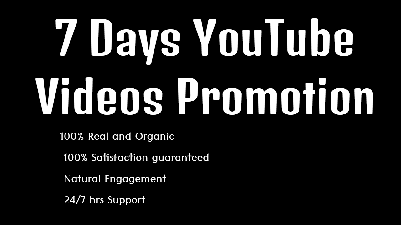 YouTube Video Promotion via Share on my Website with 30k Users