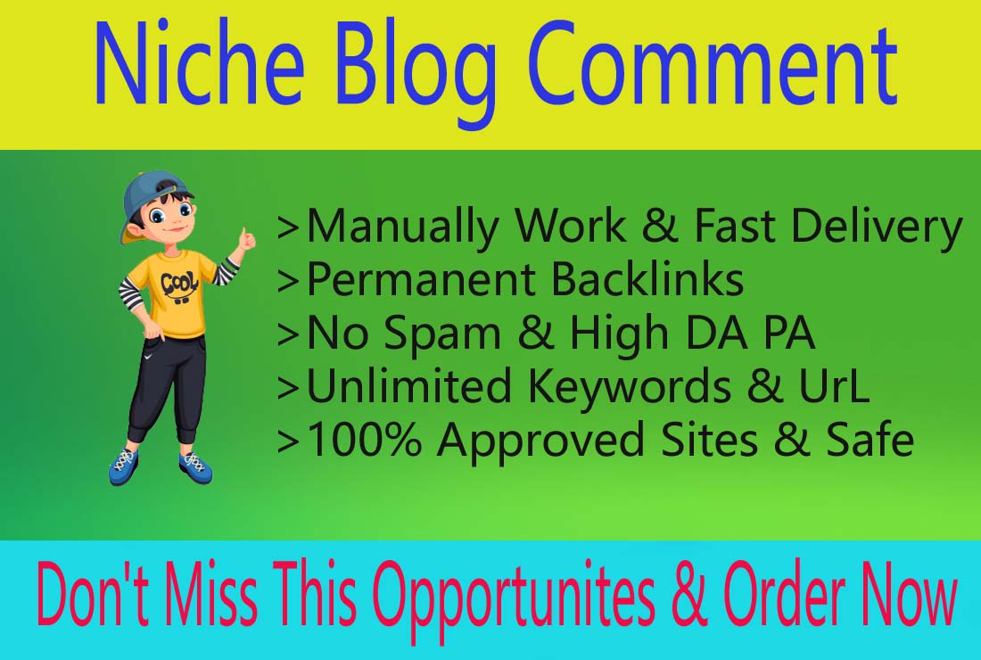I Will Build 50 Niche Relevant Manual Blog Comments Links for Website Ranking