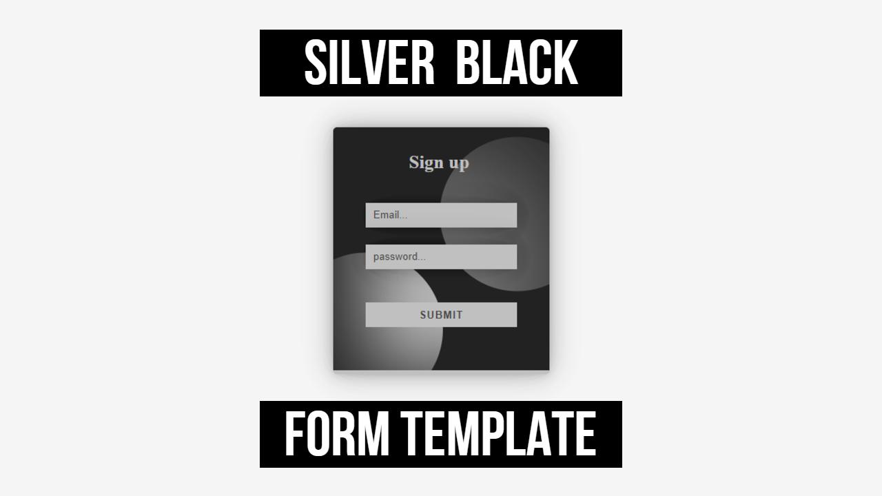 html responsive black form white shape
