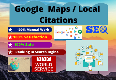 I will do 500 Google Maps Citations for local business SEO high da-pa with pinpoint