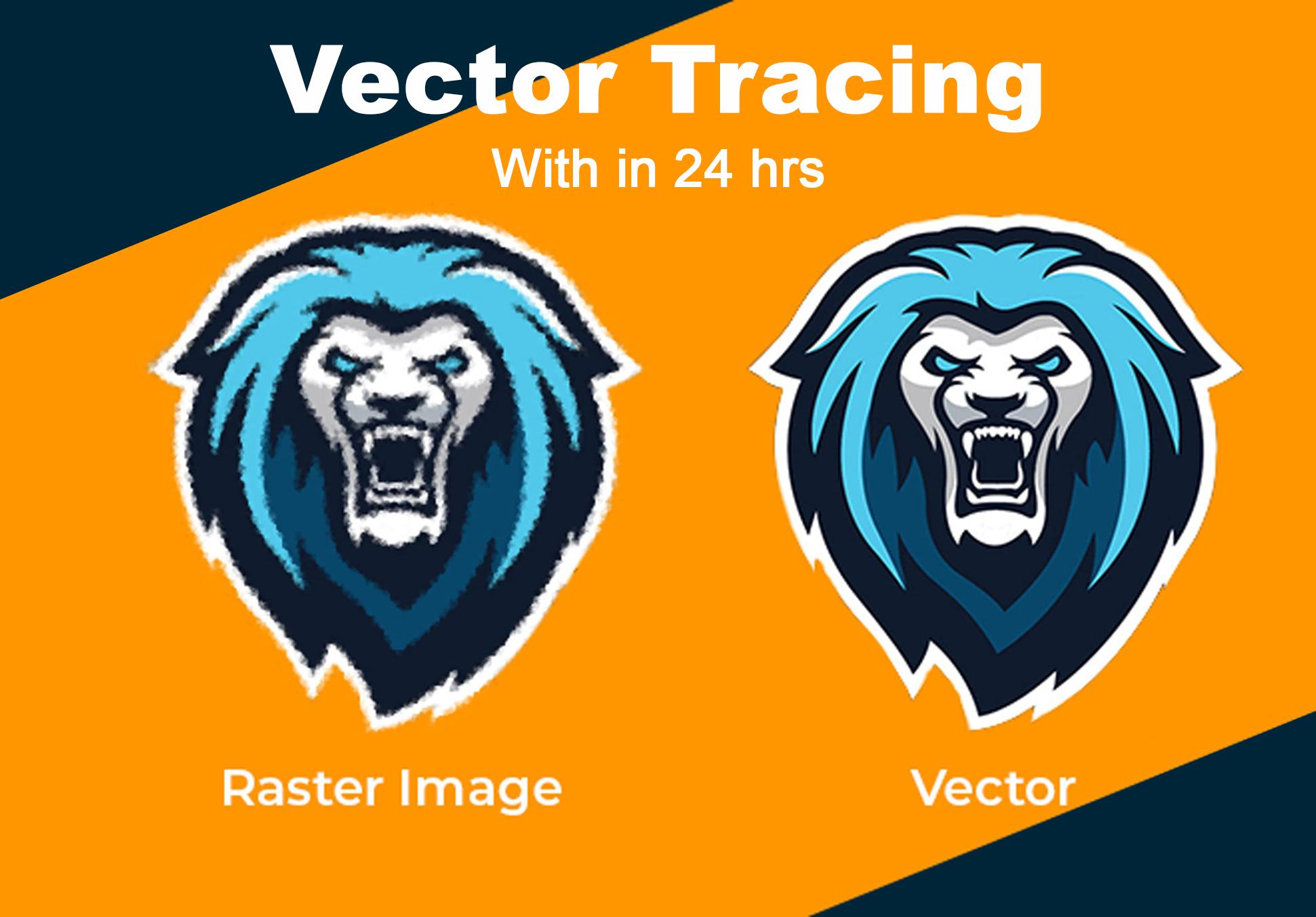 I will vectorize logo,  icon,  convert to vector,  vector tracing