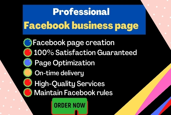 I will do Develop a professional Facebook business page